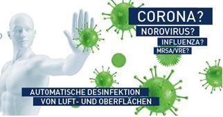 Automatische Desinfektion von Luft- und Oberflächen
